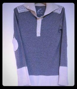 Free People Longsleeve Sweater Tee Elbow Patch L